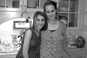 Shoshi Wolf Ponzcak says Rachel Minkove (right) loved cooking and  eating Shabbat meals. Photo Provided