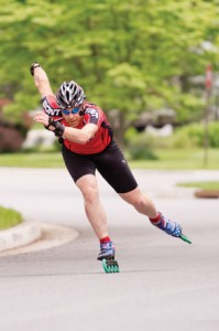 "Photos by David Stuck On July 31, Sheldon ""Shlomo"" Caplan will participate in the fourth annual Bike4Chai — on inline skates."