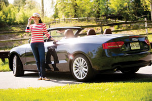 "Phyllis Brown says her Audi S5 convertible gives her ""a liberating feeling."" (David Stuck)"