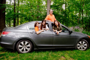 Iris and Neil Berman, along with  children Kyle and Paige, take their 2010 Honda Accord on loads of road trips. (David Stuck)