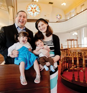 Rabbi Etan and Tammy Mintz, with children Ilana and Shlomo, have been a driving force behind B'nai Israel's growth.