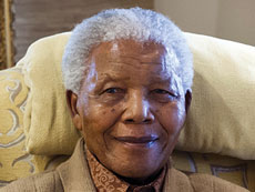 Former South African President Nelson Mandela is in critical condition. (BARBARA KINNEY/AFP/Getty Images/Newscom)