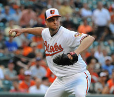 In his first two starts with the Orioles, Scott Feldman is 0-1 with a 7.15 ERA.  (Stephen Green)