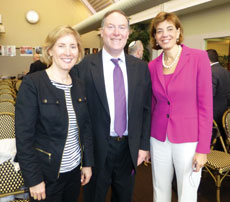 Shown here are RespectAbilityUSA co-founders Donn Weinberg and Jennifer Laszlo Mizrahi (right) with board secretary Shelley Cohen. (Photo Provided)