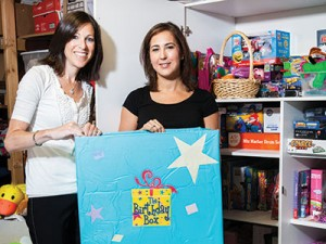 Kim Steller (left) and  Lori Baylin are co-directors of the Maryland branch of  The Birthday Box.