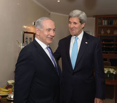 Israeli Prime Minister Binyamin Netanyahu (left), pictured here with Secretary of State John Kerry, is worried about the creation of an Iranian-sponsored terrorist entity in the West Bank. (State Department photo/ Public Domain)
