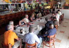 The Reisterstown Main Street Committee meets at Reter's Crab House and Grille. (Marc Shapiro)