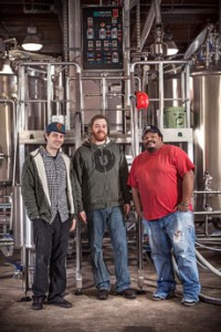 Union Craft Brewing co-owners (from left) Jon Zerivitz, Adam Benesch and Kevin Blodger are gearing up for their one-year anniversary celebration. (Jordan August Photography)