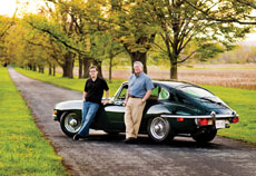 David (left) and Mike Stuck went in together on a 1970 Jaguar XKE two-door coupe. (David Stuck)