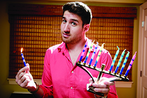 "Photo By David Stuck Noah Halle admits: ""I'm not the brightest candle in the menorah."""