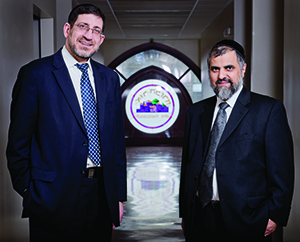Daniel Golfeiz (left) and Rabbi Rouben Arieh say Ohr Hamizrach's success has improved the self-esteem of the local Iranian Jewish community. (Photo By David Stuck)
