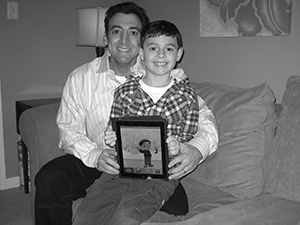 Justin Berk and son Brandon developed an app that teaches kids about the weather.  Photo Provided