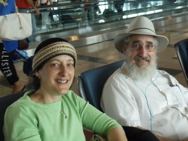 Marietta and Nissan Jaffee made aliyah on Monday through Nefesh B'Nefesh.