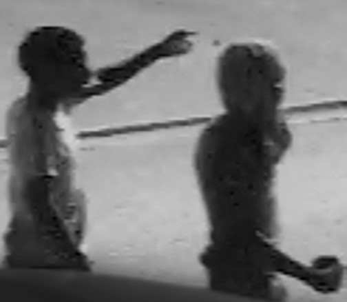 Camera footage captured by area security cameras show a youth throwing a rock in Northwest Baltimore. (Photo provided)