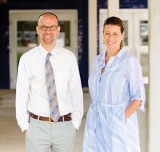 Josh Bender and Andrea Cheatham Kasper will be two new faces at Krieger Schechter Day School this year. Head of School Bil Zarch says he and the KSDS leadership see them both taking active roles in moving the school forward. Photo by David Stuck