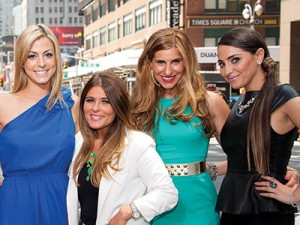 "From left: Joey Lauren, Amanda Bertoncini, Casey Cohen, Ashlee White, Chanel ""Coco"" Omari and Erica Gimbel gave very few Jewish moments to their cringe-worthy reality show. Bravo/PR"