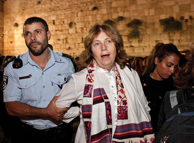 Anat Hoffman is arrested at the Western Wall.