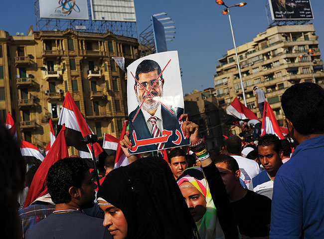 Egypt's army deposes President Morsi.