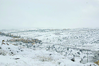 Snow covered Jerusalem and its surrounding communities. Shown here: Efrat. Aryeh Savir/Tazpit News Agency