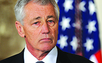 Local leaders question Sen. Chuck Hagel's views, but are yet to discount him as defense secretary.   Olivier Douliery/MCT/Newscom