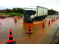 The Jordan Valley flooded, making it impossible  to commute. Peleg Amiton/Tazpit News Agency