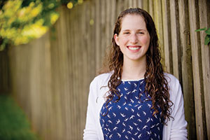Brooke Prince is Baltimore's first Masa-Israel Action Network fellow. She attends UMBC. (Photos by David Stuck)