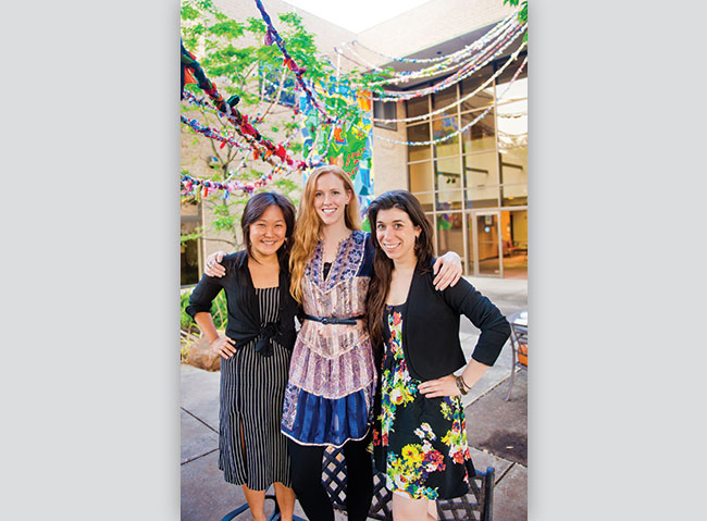 Three impact artists, including (from left) Janet Hong, Remina Greenfield and Janina Anderson.