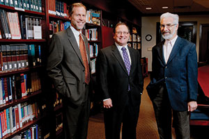(left to right) Rabbi Schwartz, Rabbi Fink, and Rabbi Landau (Photo by David Stuck)