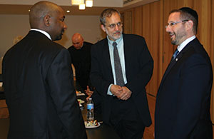 MK Rabbi Dov Lipman  meets with Christian leaders during a recent visit to the area. (Provided)