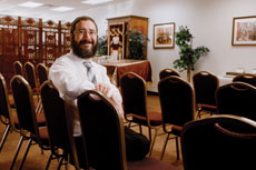 "Rabbi Nochum Katsenelenbogen, ""Rabbi K,"" says he thinks the Jews in  Owings Mills are searching for a deeper spiritual connection.  (David Stuck)"