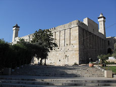 The Cave of the Patriarchs, which sits in Hebron is where Sgt. Gal Gabriel Kobi was murdered by Palestinian terrorists earlier this week. Prime Minister Binyamin Netanyahu allowed Jewish residents to move into disputed homes in Hebron following the attack. (Djampa via Wikimedia Commons)
