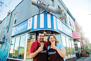 Laura and David Alima opened The Charmery in July. Their ice cream flavors are Baltimore-centric ... and a little Jewish, too.