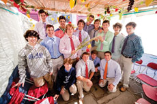 Boys ' Latin was home this year to the Teens Can IDENTIFY traveling sukkah.