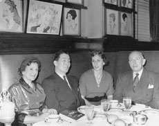 Rose (left) and William Sneider (right) and their daughter Lee Sager (nee Sneider) meet with Col. Ben C. Limb, Korean ambassador to the United Nations, at Sardi's Restaurant in New York City. (Provided)