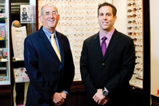 Howard (left) and Richard Levin's Pikesville eye care group is expanding. (Marc Shapiro)