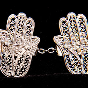 Sterling Filigree Tallit Clips $50 a pair