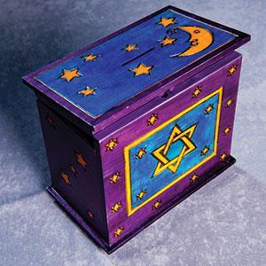 Tzedakah Box $44, hand painted, made in Poland