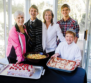Going vegan is natural for (from left) grandmother Carol Messina and  Matthew, Bonnie, Ryan and Aaron Sorak. (Photo by David Stuck)