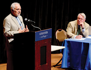 At the Institute for Christian and Jewish Studies' final 25th anniversary celebration lecture, Imam Faisal Abdul Rauf said Muslims are grappling with how to define themselves in America and with how to move from being Muslims living in the United States to being American Muslims.
