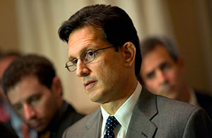 House Majority Leader Eric Cantor (R-Va.) at a news conference at the Capitol on Oct. 5, 2013. (Chris Maddaloni/Getty Images))