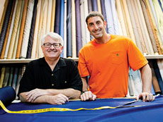 Michael Bearman (left) and Jonathan Miller bring only the best materials to A Fabric Place. (David Stuck)