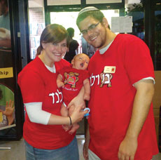 Shira and Rabbi Ari Neuman, with baby Moshe, are now serving as the Heshe and Harriet Seif Jewish Learning Initiative on Campus couple at the University of Maryland.