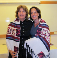 Anat Hoffman (left), with Rabbi Dana Saroken, has been a pioneer for women's rights in Israel. (Photo by Jane Zweig)