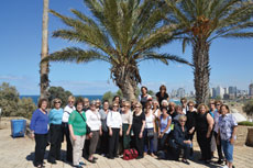 Women on a mission: 32 women (including two staff) traveled together. The result, they said, was greater inspiration for and understanding of Israel. (Photo by Esta Schein)