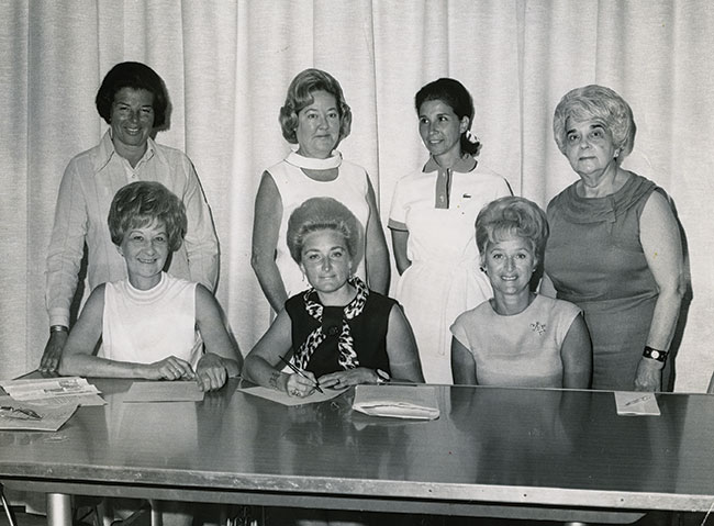 A group of women join Shoshana S. Cardin (sitting, center) at the Jewish Communty Center.