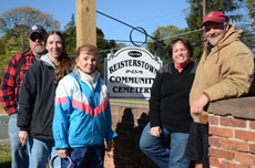 The Reisterstown Community Cemetery board of trustees is working to preserve a hundreds-year-old piece of area history. From left: Bill larkin, Kimberly Dotson, Linda Eve Percy, Rebecca  larkin and Chris larkin.