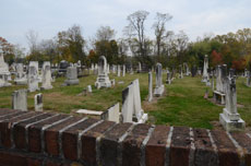 Among the headstones are a number of Jewish souls. One of them, Bertha Mailhouse Harryman, who ultimately converted to Catholicism, was the lead soprano of Eutaw Place Synagogue in the late 1890s and early 1900s. (Melissa Gerr)