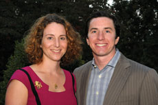 "Evan Goldman, with wife Payton, says Baltimore is ""a thriving, very philanthropic community."""