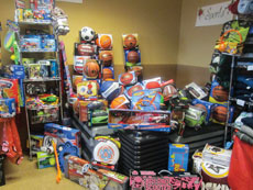 The Paul's Place gift shop supplies needy families with toys and gifts for the holidays.