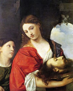 Judith with the head of Holofernes by Italian master painter Titian.